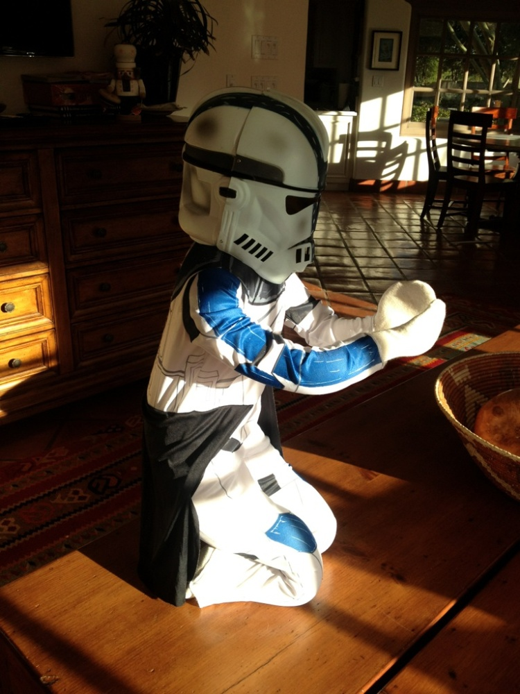 This is the Captain Rex that will go under your tree at PCH this year. Your costume. I only wish it were your body wearing it.